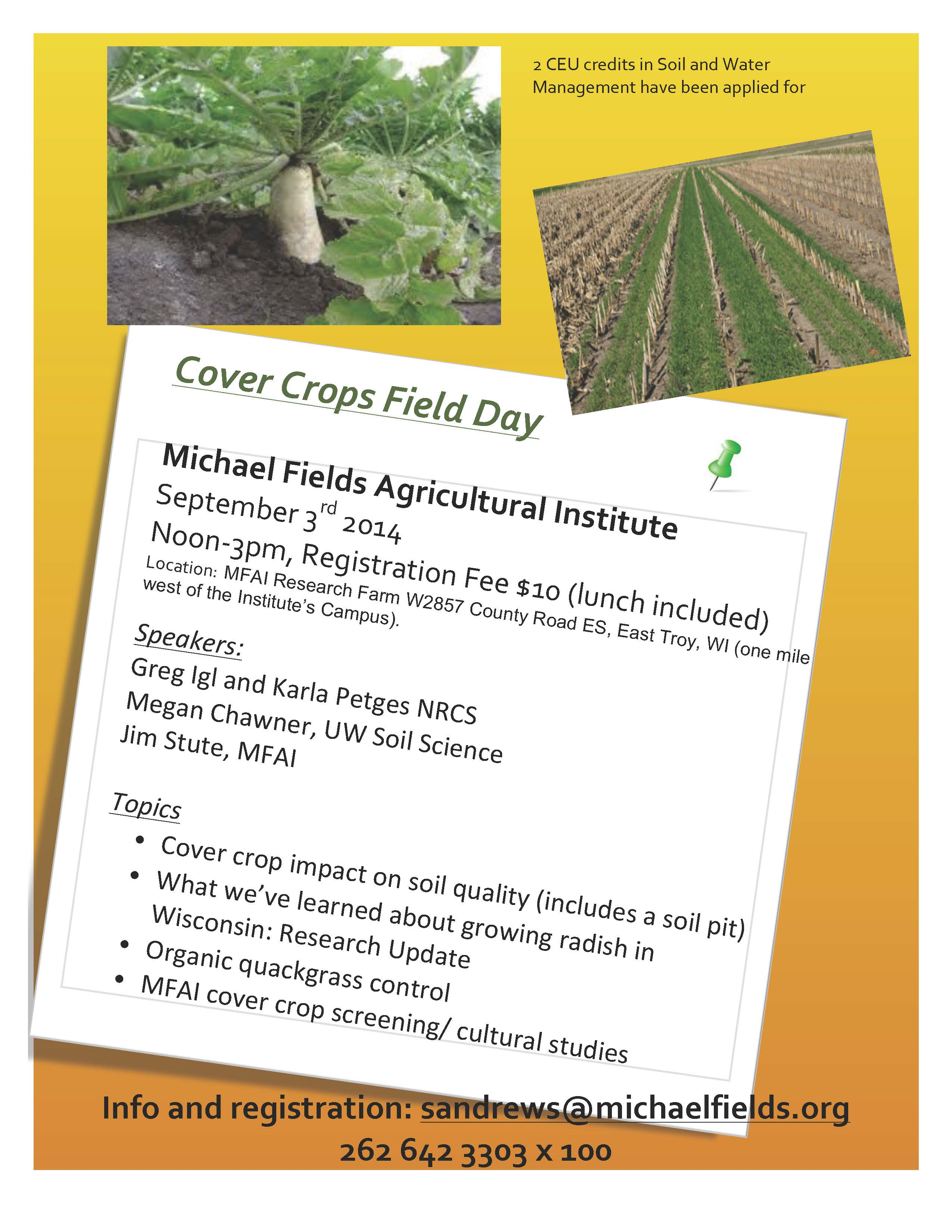 Cover Crops Field Day Sept 2014